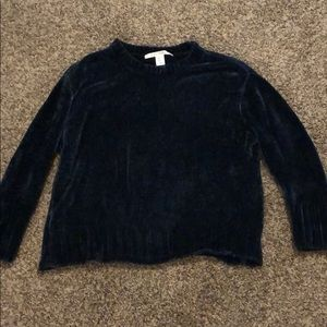 Deep Blue Chenille Sweater